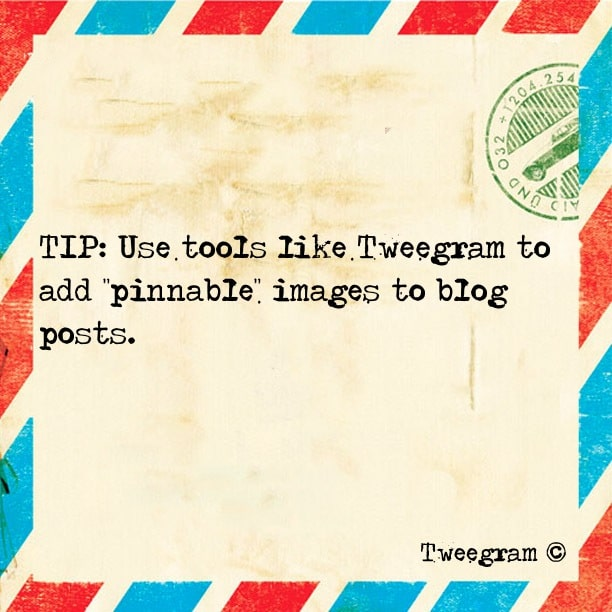 Make Your Blog Posts Pinterest-Friendly With Tweegram