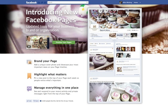 Introducing New Facebook Pages