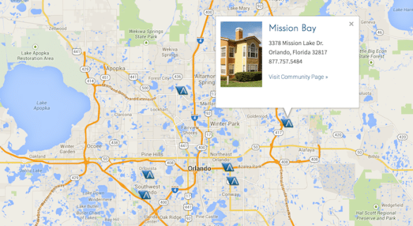 Let customers see where your properties are located.